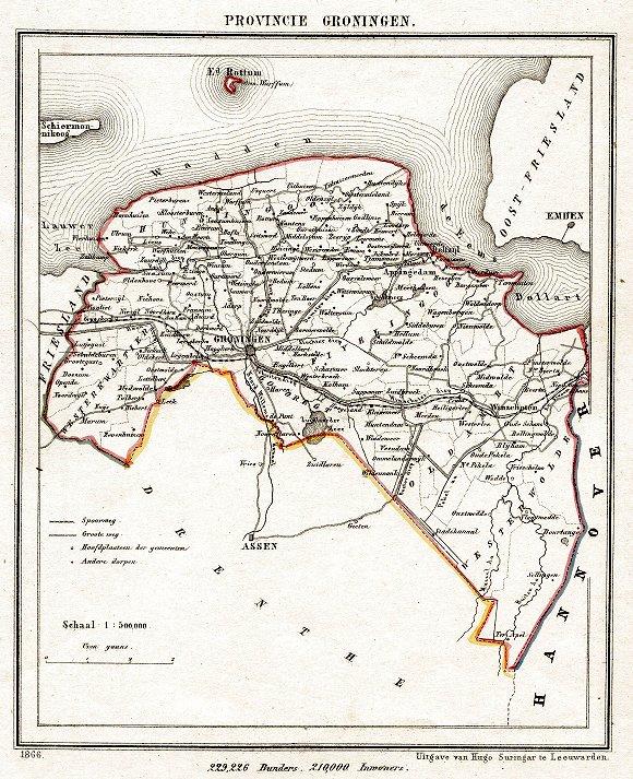 GRONINGEN ATLAS 1868