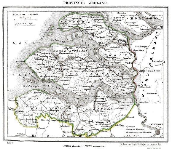 Zeeland Atlas 1868